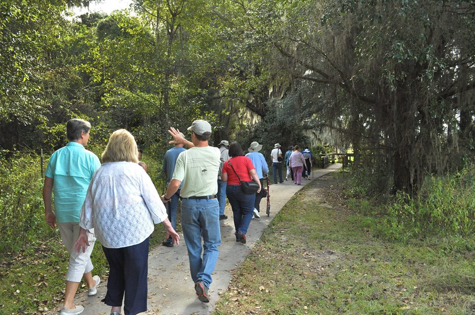 Matheson members on a history tour of Paynes Prairie State Park