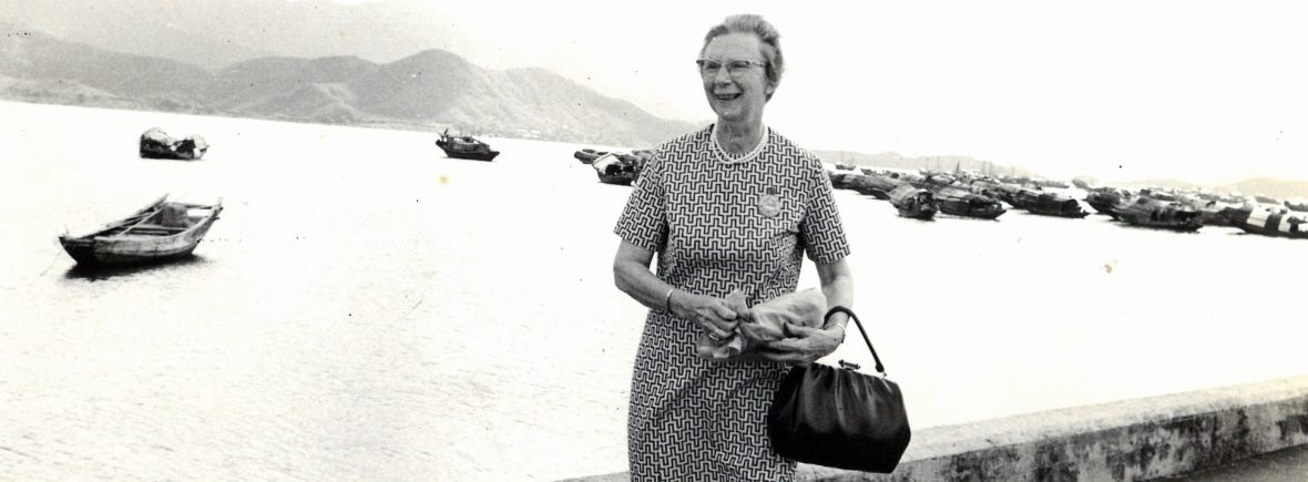 Sarah Matheson in Hong Kong in 1971